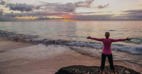 yoga on the bermudian beach