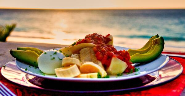 bermuda codfish breakfast on the beach in september