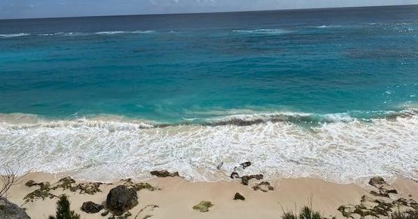 romantic beach day in bermuda in february