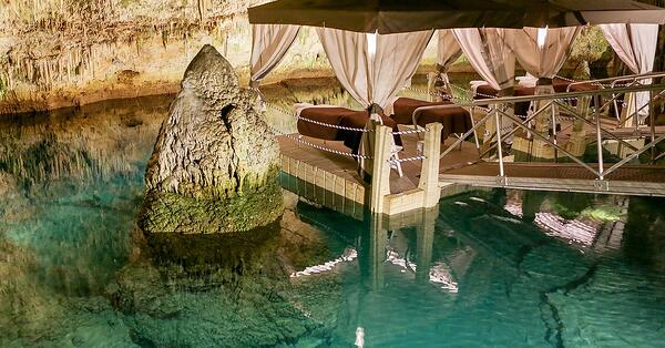 relaxing spa with atmosphere and caves