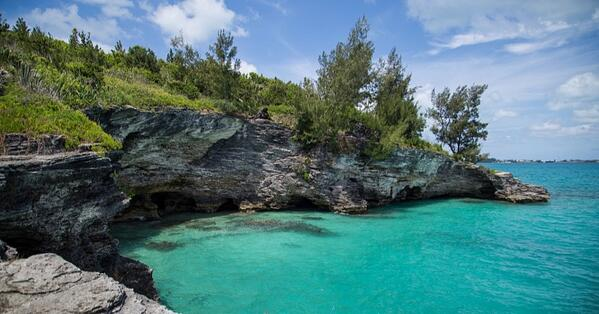 bermuda in january cliff jumping at admiralty house park